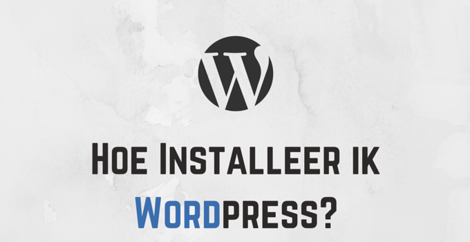 Hoe Installeer ik Wordpress in Versio