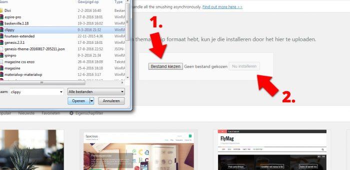 Hoe nieuw wordpress thema installeren