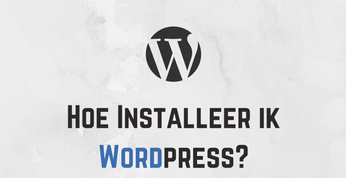 Hoe Installeer ik Wordpress in Versio